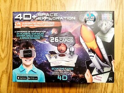 4D Space Exploration Augmented Reality Cards and Virtual Reality Headset VR