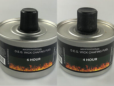 Heat Chafing Dish Fuel Re-usable High Quality -Choose 4hr or 6hr Burn & quantity Chafing Dish Fuel