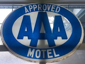 AAA lighted plastic sign cover, vintage