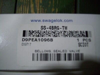New Nupro Swagelok Ss-4brg-tw Stainless Bellows Valve