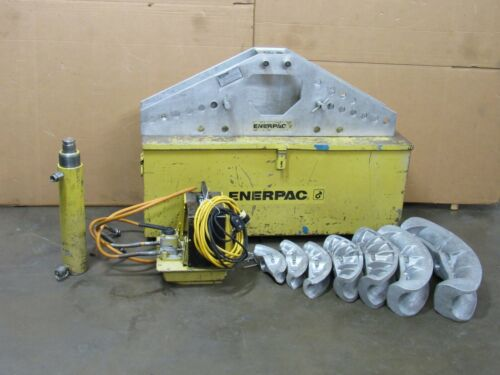"""ENERPAC ONE-SHOT HYDRAULIC PIPE BENDER SET S-342 1-1/4"""" TO 4"""" W/ ELECTRIC PUMP"""