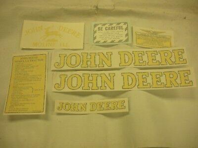 John Deere La Decal Set - Vinyl Cut New Free Shipping