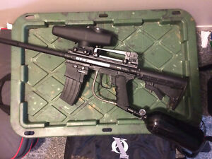 Nicely upgraded Bt4 Assault paintball marker