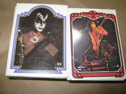 Vintage 1978 KISS Trading Cards AUCOIN  MFG Lot OF 152