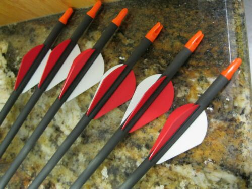 """CARBON  STORM Arrows  350 spine 8.3 gpi  31 1/2"""" inch Red/White Vanes"""