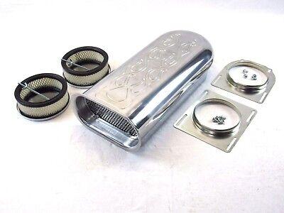 Hillborn Style Flame Dual Quad Aluminum Carb Scoop 4bbl BPE-1006
