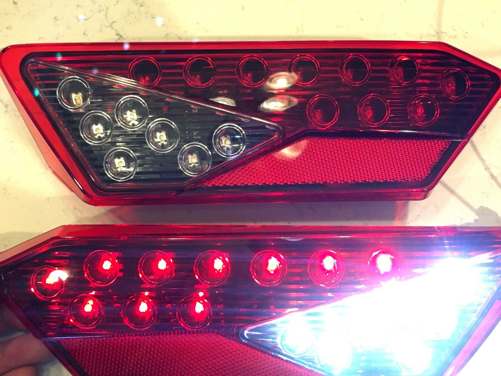 LED Tail Lights  With REVERSE LIGHTS 16-18 POLARIS RZR TURBO backup red