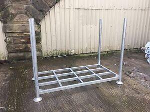 Large Galvanised Steel Stillages / Cages Post Pallet - Storage / Racking
