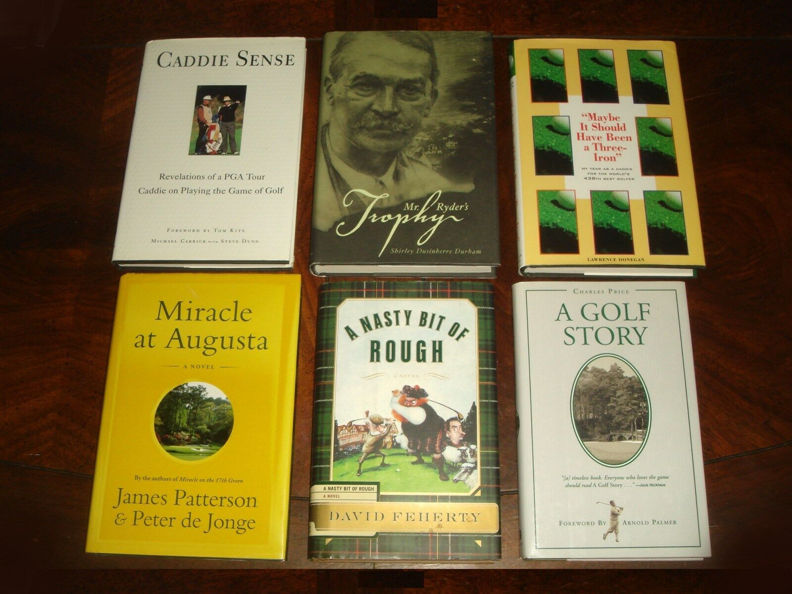 LOT OF 6 GREAT GOLF STORIES HC BOOKS Augusta, Masters, Ryder Cup, Charles Price - $49.99