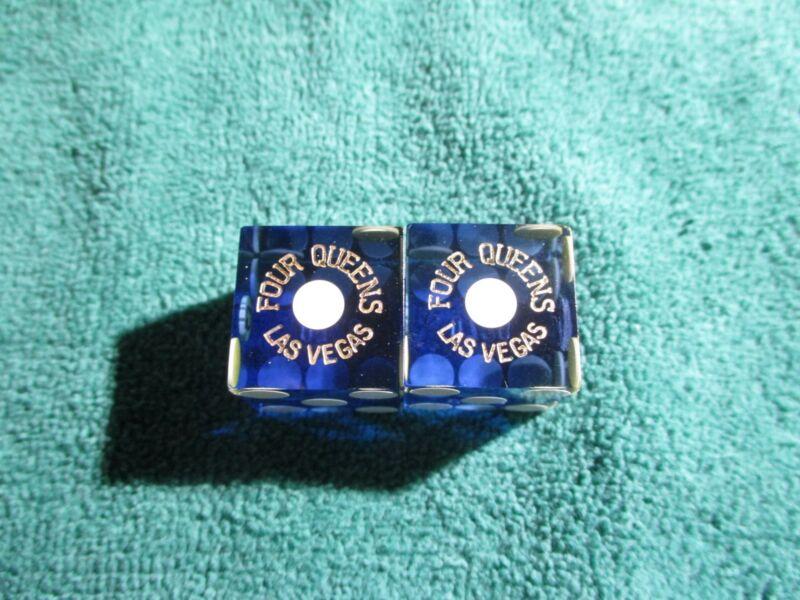BLUE FOUR QUEENS  LAS VEGAS CASINO DICE   MATCHING#