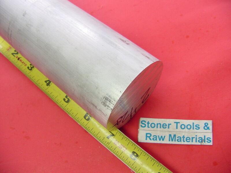 "2-1/2"" ALUMINUM ROUND ROD 7"" long 6061 T6511 Solid 2.5 Diameter Lathe Bar Stock"