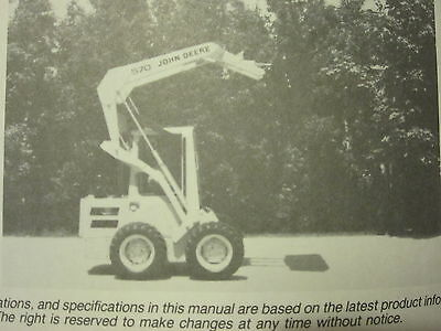 John Deere 570 Skid Steer Loader Operators Manual