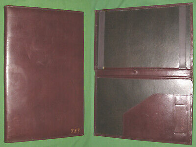 8.5x11 Note Pad Brown Leather Sd Planner Binder Franklin Covey Monarch 9742