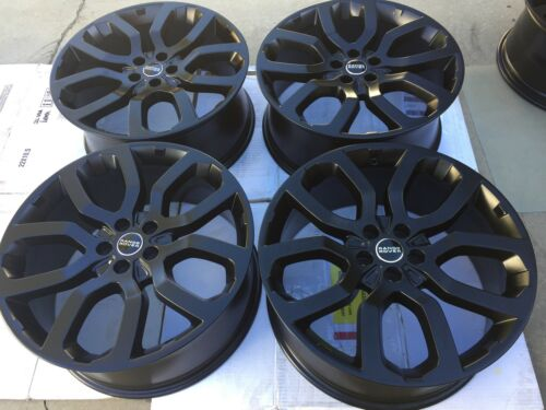 "22"" New Matte Black Oem Factory Range Rover Supercharged Autobiography Wheels."