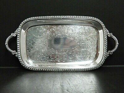 Vintage Crescent Silver Plated Small Serving Tray 11.5 X 5.75    # 3172EH