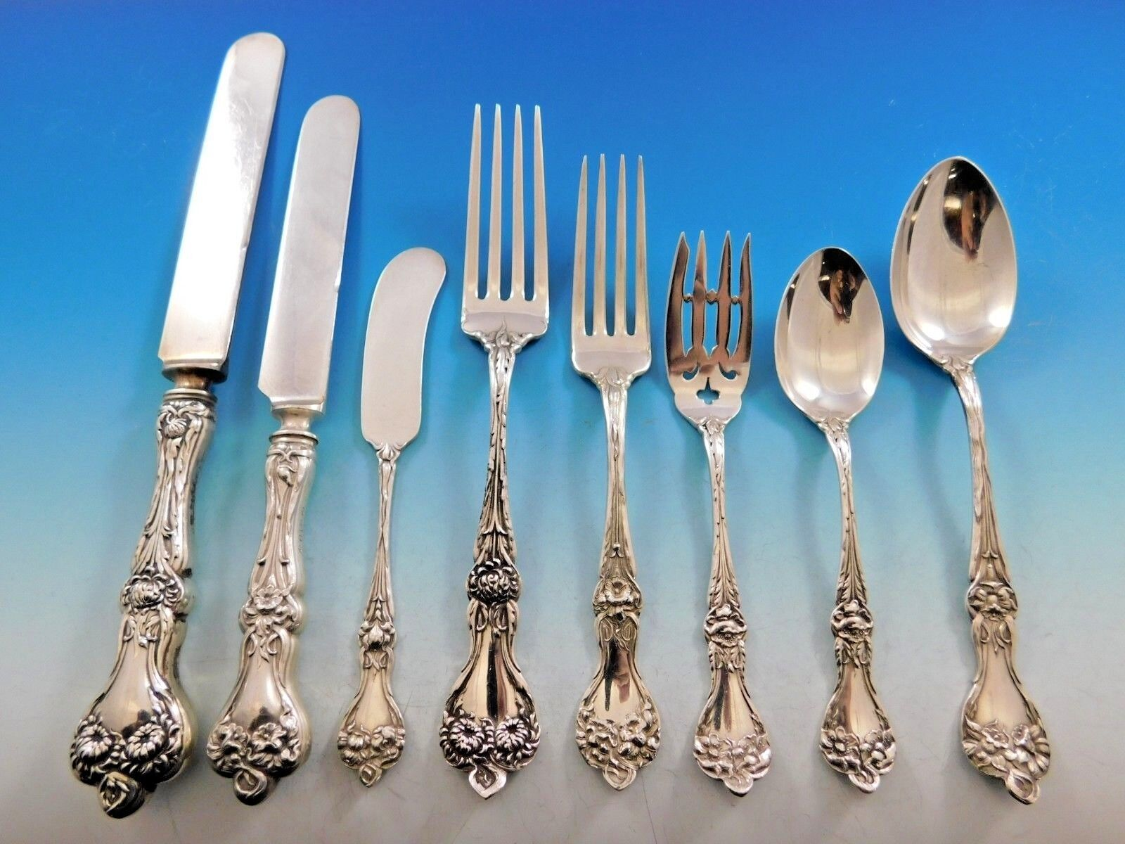 Majestic by Alvin Sterling Silver Salad Fork 4-Tine with Bar Pierced 5 78