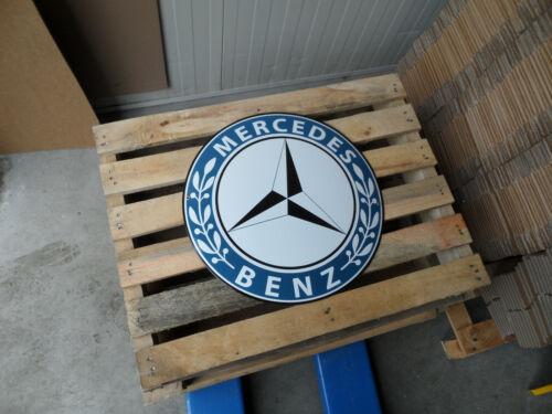 MERCEDES BENZ - Service Garage Dealership - Porcelain Enamel Sign 18.5 Inch