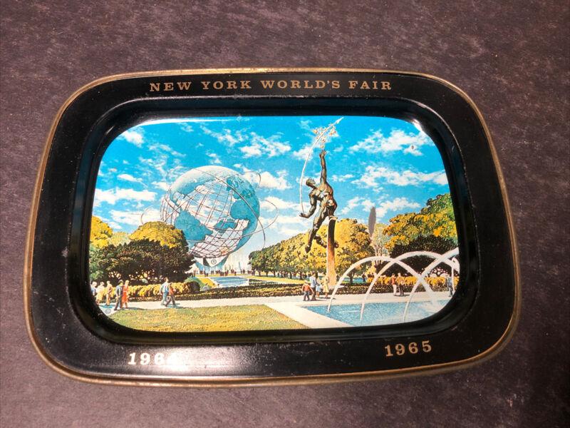 Vintage New York Worlds Fair Tip Tray 1964 1965 Unisphere U.S. Steel Metal