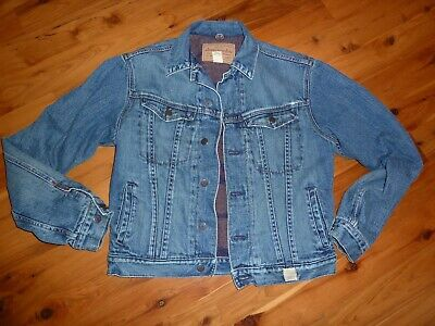 ABERCROMBIE FLANNEL LINED JEAN/DENIM JACKET~~SIZE XL (SMALL XL)