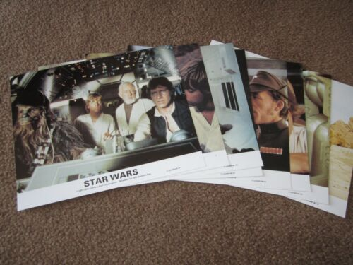 Complete SET of 8 COLOR STILLS from STAR WARS 8x10
