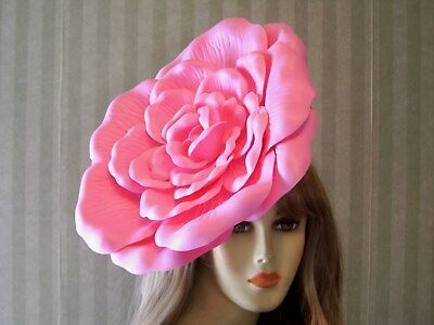 Kentucky Derby Fascinator Hat, PiNk Rose Hat, Wedding, Belmont, Tea Fascinator