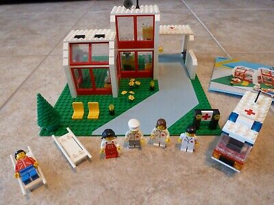 Vintage LEGO City Emergency Treatment Center 6380 with minifigures and manual