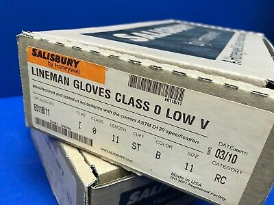 Salisbury E011b11 Lineman Gloves Class 0 Low V Size 11