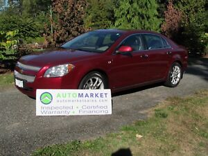 2008 Chevrolet Malibu LTZ, LEATHER, MOONROOF, INSP, FREE WARRANT