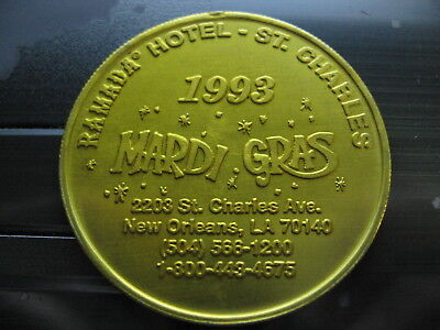 Ramada St Charles Motel Hotel Mardi Gras Doubloon New Orleans Vintage Nola