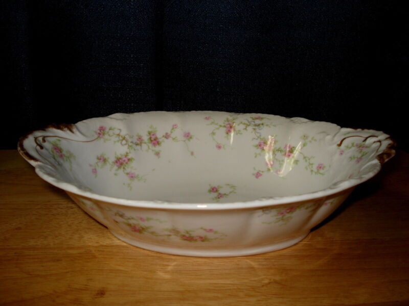 "Vintage Theodore Haviland Limoges Schleiger 161a Marie Roses 10"" Serving Bowl"