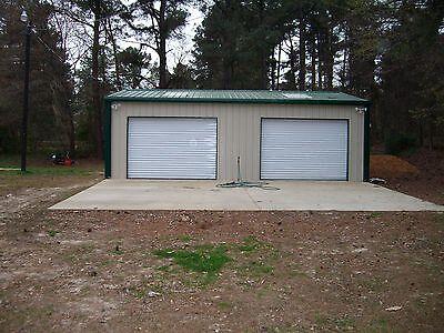 Steel Metal 2-Car Garage Building Kit 720 sq workshop barn shed prefab storage