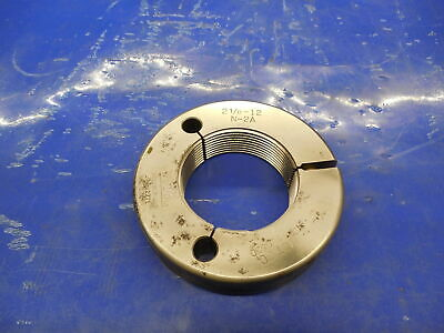 2 18 12 N 2a Thread Ring Gage 2.125 No Go Only P.d. 2.0630 Inspection Tool