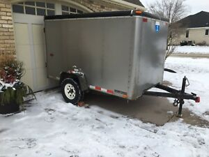 Trailer 4 x 8 x 5 ft high enclosed