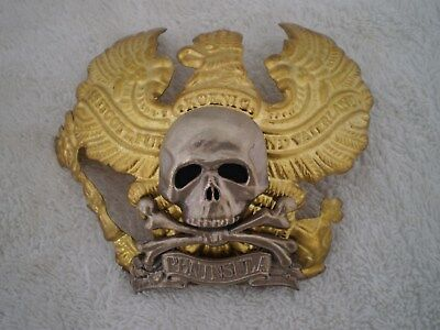 WW1 German Pickelhaube  Prussia helmet Badge Deaths Head, IR 92