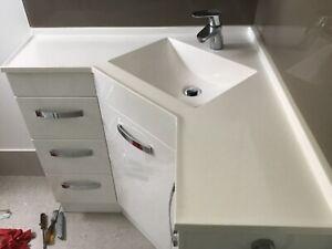 Corner Vanity Unit and Mixer Tap