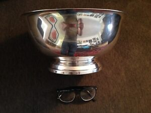 Birks Paul Reviere very large silver plated bowl