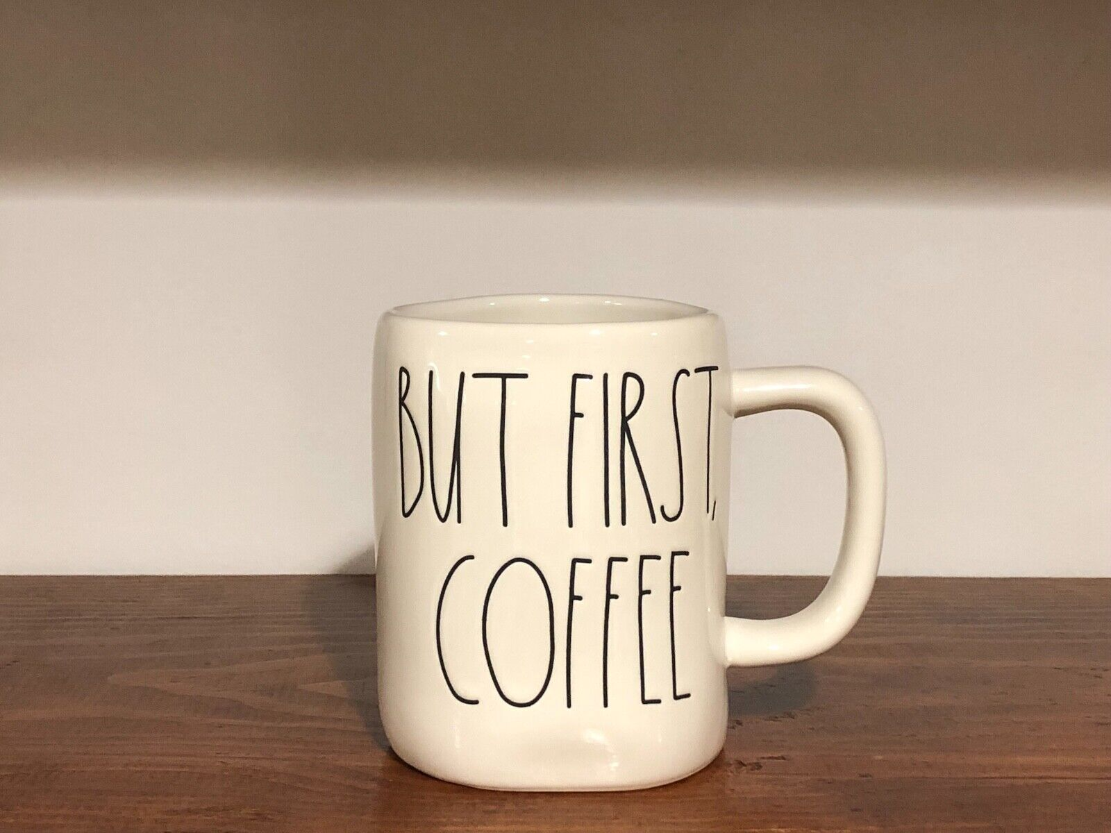 Rae Dunn Artisan Collection By Magenta Farmhouse LL Large Letter Coffee Tea Mug BUT FIRST, COFFEE