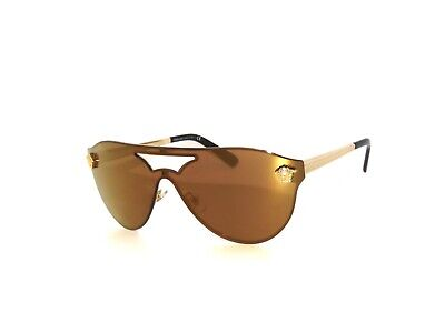 Versace  VE2161 2161 1002F9 Gold Brown Mirror Gold Sunglasses