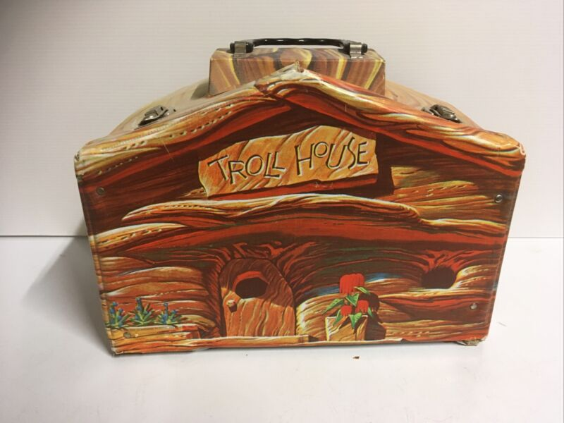 1960s Vintage Original Troll Doll House Case w/Handle Standard Plastic Products