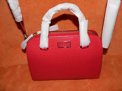 KATE SPADE NEW YORK KAY STREET SMALL FELIX DYNASTY RED NWTS