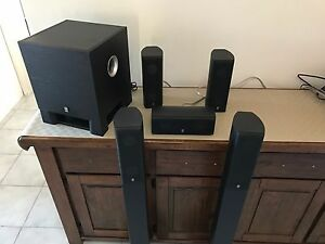 Yamaha subwoofer + 5 Speakers + free stuff Thornlie Gosnells Area Preview