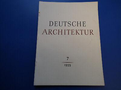 DDR Zeitschrift- Deutsche Architektur 7/1955-Neubrandenburg-Leipzig-Möbel-Typen-