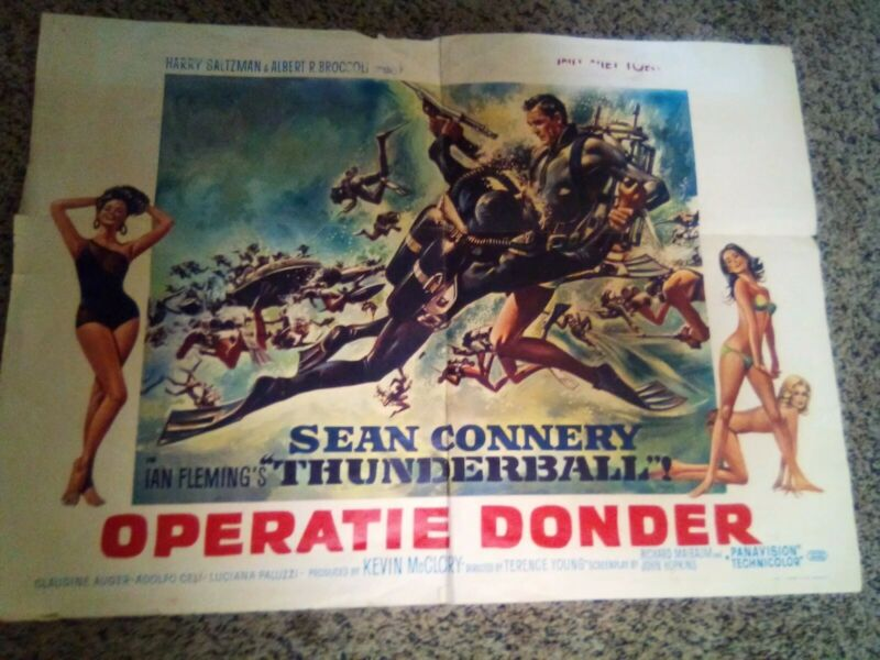 Thunderball JAMES BOND Belgian movie poster SEAN CONNERY 007 1965 rare!!
