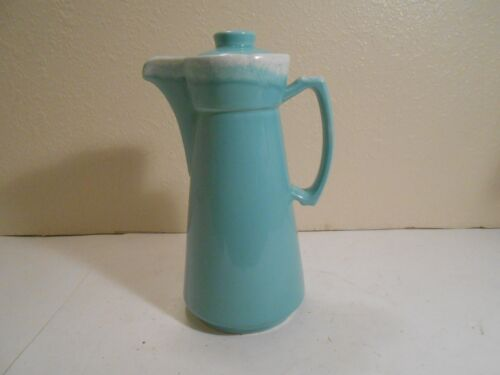 Turquoise Hull Crestone Coffee Server / Pitcher w/cracked lid :o(