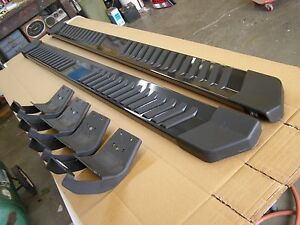 Super Crew Ford F Truck Running Boards Grey