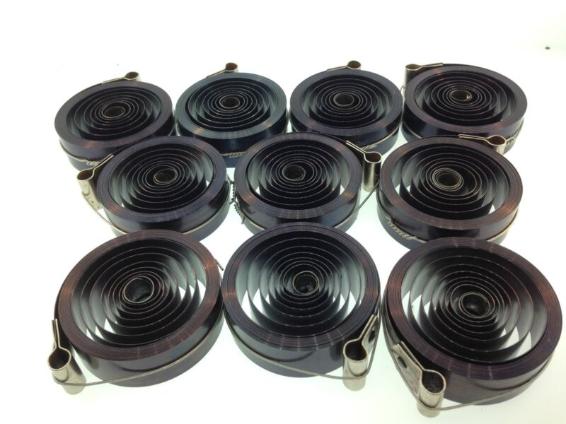 """Set of 10 3/4"""" x .0165"""" x 96"""" Clock Mainsprings for the Antique 8 Day Movement"""