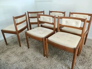 CHISWELL Dining Chairs X 6. Vintage Retro Mid Century Modern Chairs.