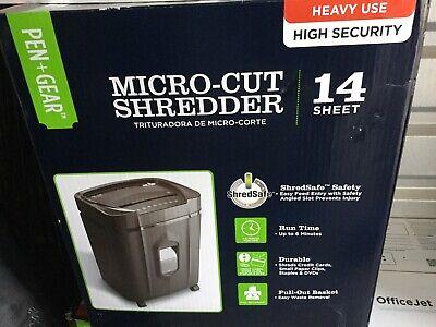 Pen Gear 14 Sheet Micro-cut Papercredit Card Machine Shredder High Security