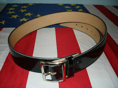 Jaypee Leather Duty Belt Clarino Finish Nickle Buckle 44 New Sam Browne Nyc