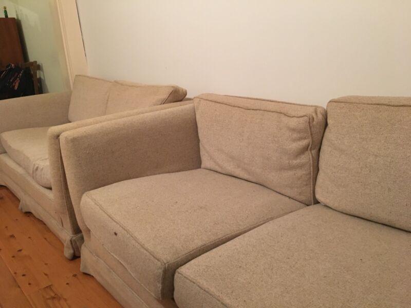 Navy sailcloth sofa cover